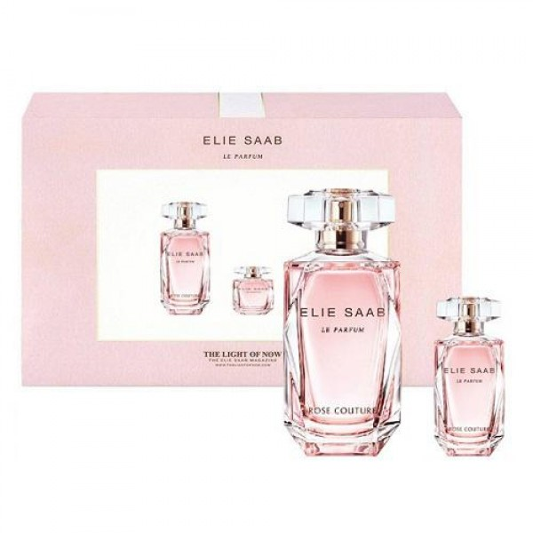 Elie Saab Le Parfum Rose Couture Set 90 ml EDT en 10 ml EDT